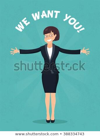 feliz · mujer · de · negocios · apretón · de · manos · socio · reunión - foto stock © minervastock