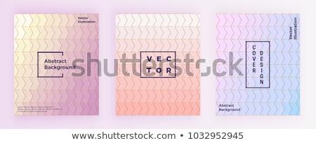 şık mermer kartvizit geometrik altın pastel Stok fotoğraf © SArts