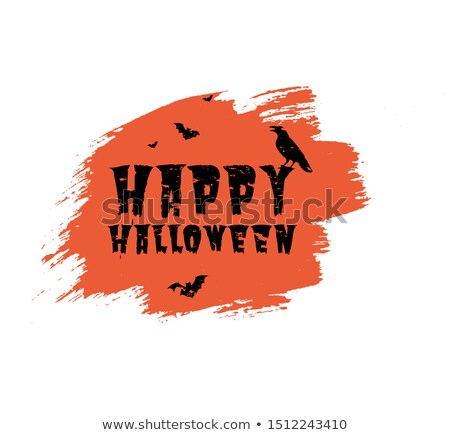 halloween black blot poster transparent background stock photo © adamson
