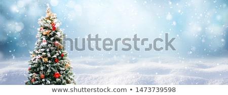 Noel · arka · plan · kapalı · kar · ahşap - stok fotoğraf © karandaev