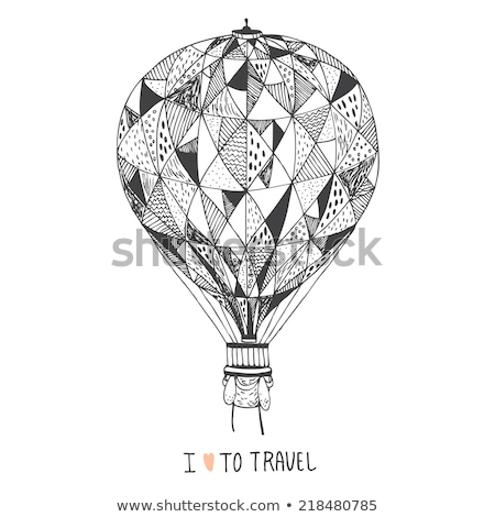Stock photo: Air Tourism Balloon Poster Vector Illustration