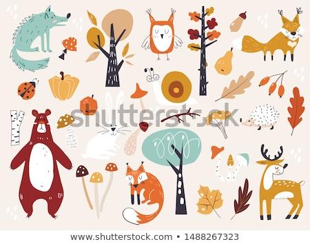 Autumn seamless pattern with mushrooms Stock photo © Artspace