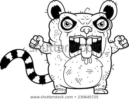 Enojado feo Cartoon ilustración mirando gráfico Foto stock © cthoman
