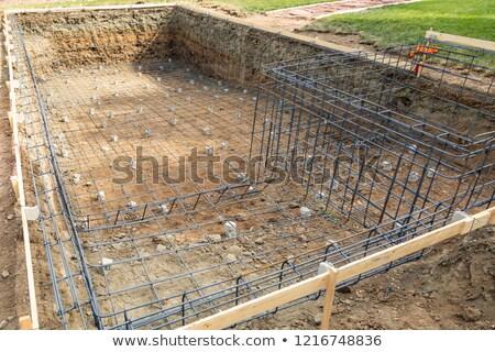 új úszómedence acél építkezés épület absztrakt Stock fotó © feverpitch