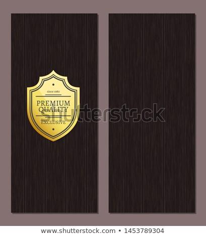 Nagyszerű választás prémium minőség arany címke Stock fotó © robuart