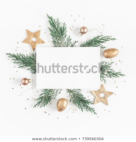Christmas Card With Paper Fir-tree Stock photo © cammep