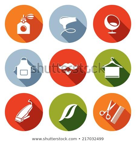 cuidados · com · os · cabelos · ícones · coleção · projeto · assinar · quarto - foto stock © robuart