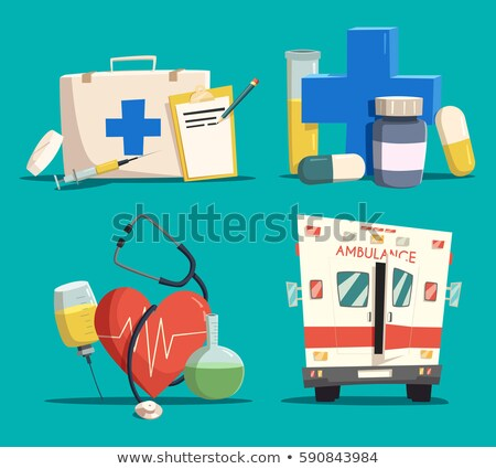 Paramedic with Medicine Kit and Ambulance Car Stock photo © robuart