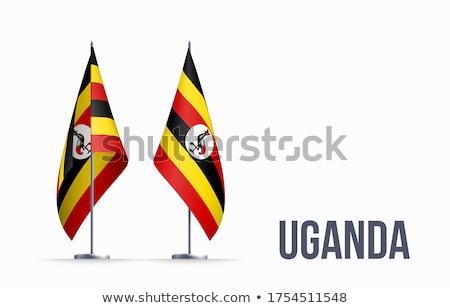 Uganda flag isolated on white Stock photo © daboost