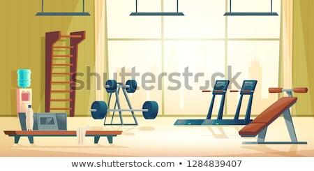 Cartoon illustratie lege tredmolen geïsoleerd witte Stockfoto © hittoon