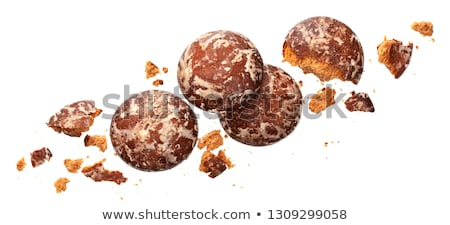 Crushed russian gingerbread isolated on white background Stock photo © xamtiw
