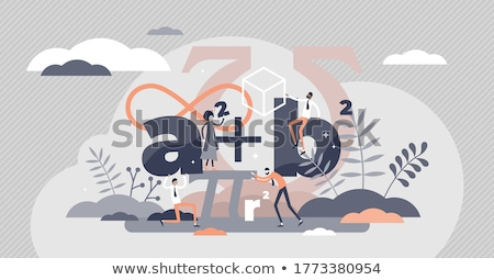 Number and math symbol Stock photo © colematt