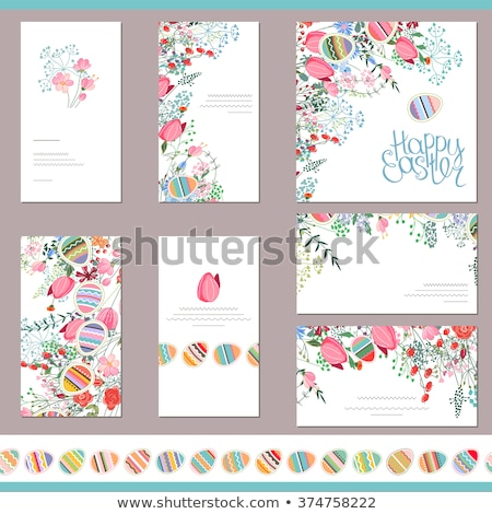 Vector simple easter card Stock photo © orson