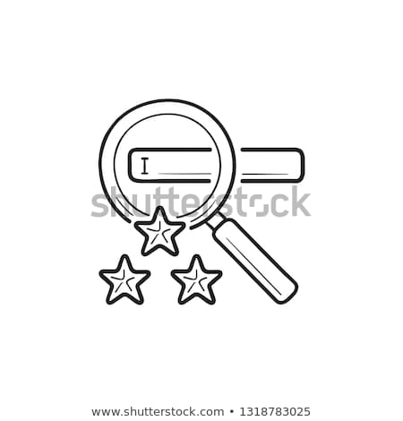 Contorno doodle icona lente di ingrandimento Foto d'archivio © RAStudio
