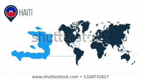ハイチ 地図 世界地図 フラグ ピン インフォグラフィック ストックフォト © kyryloff