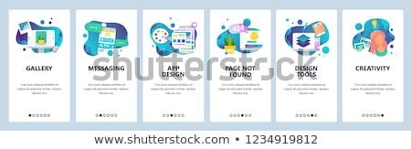 Stockfoto: Telefoon · bericht · grafisch · ontwerp · sjabloon · vector · geïsoleerd