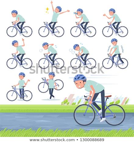 Quiroprático bicicleta conjunto homem estrada ação Foto stock © toyotoyo