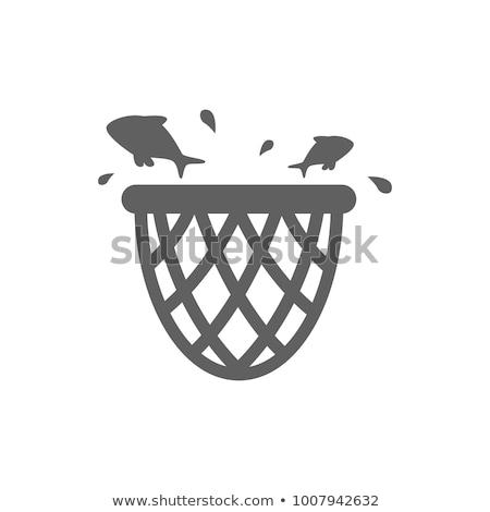 アイコン 漁網 影 反射 デザイン スポーツ ストックフォト © angelp
