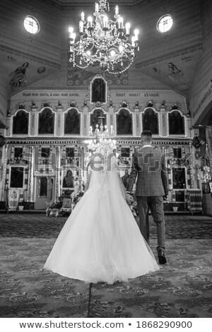 Düğün töreni gelin gelinlik damat evli kız Stok fotoğraf © ElenaBatkova