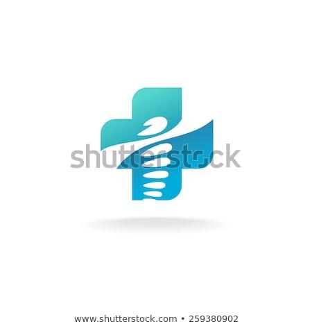 Yeşil çapraz hastane tıbbi vektör logo Stok fotoğraf © kyryloff