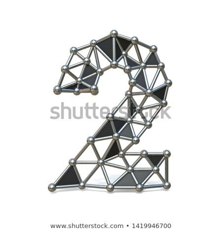 zwart · wit · aantal · twee · 3D · 3d · render - stockfoto © djmilic
