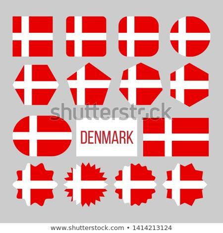 Dinamarca bandeira coleção descobrir vetor Foto stock © pikepicture