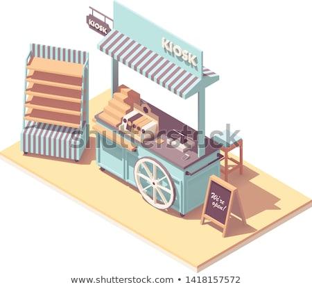 żywności · koszyka · realistyczny · wektora · szablon · biały - zdjęcia stock © tele52