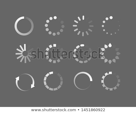 Square Loader icon vector circle button. Load sign symbol progress bar for upload download process. Stock photo © kyryloff