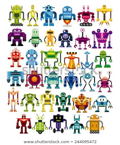 cartoon robot funny comic character Stock photo © izakowski