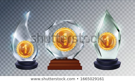 Different Form Collection Glass Trophy Set Vector Stock photo © pikepicture