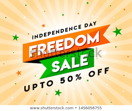 15th August Happy Independence Day of India Sale Promotion advertisement background Stock photo © vectomart