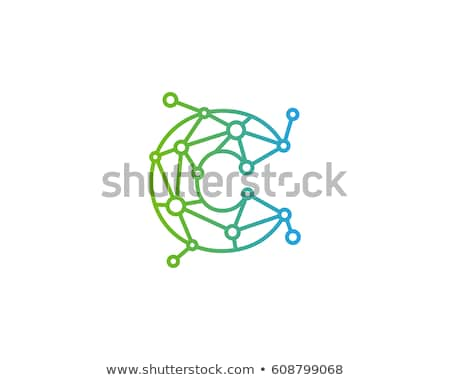 Molecule Vector logo design element. Connected dots Abstract shape. Stock Vector illustration isolat Stock photo © kyryloff