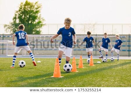 soccer training   warm up and drills boys stock photo © matimix