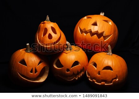 halloween holiday design with jack lantern pumpkin stock photo © izakowski