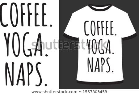 Stock fotó: Set Pillow Print T Shirt - Mockup For Print T Shirt
