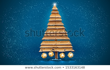 Christmas tree for holiday made of old wooden planks Stock photo © LoopAll