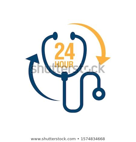 24 szolgáltatás ikon gyógyszertár nyitva szimbólum Stock fotó © Imaagio