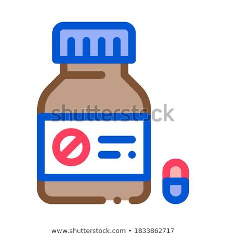 мертвых таблетки бутылку икона вектора Сток-фото © pikepicture