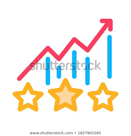 Bonus star statistiek icon vector schets Stockfoto © pikepicture