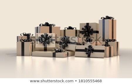 Köteg karácsony ajándékok csomag csomagok vásárlás Stock fotó © Wetzkaz