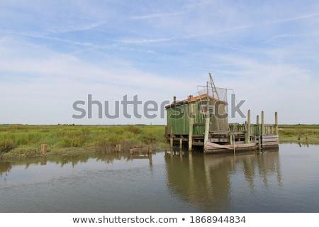 Tájkép osztriga francia fából készült Franciaország csónak Stock fotó © ivonnewierink