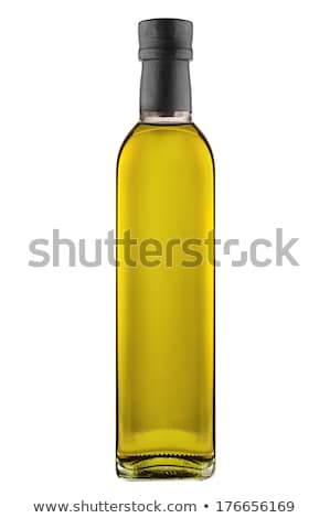 Olive oil bottles, olive branch and Cooking oils  Stock photo © JanPietruszka