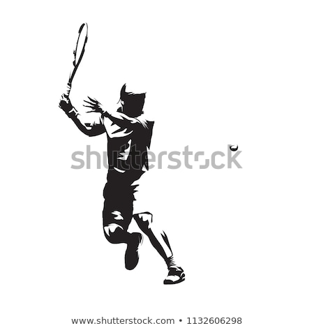 Fut teniszező ikon vektor skicc illusztráció Stock fotó © pikepicture