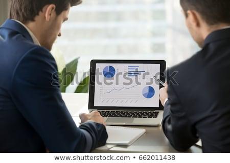 Société investissement taux statistiques graphique vecteur Photo stock © robuart