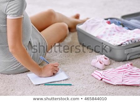 беременная женщина сумку материнство больницу беременности Сток-фото © dolgachov