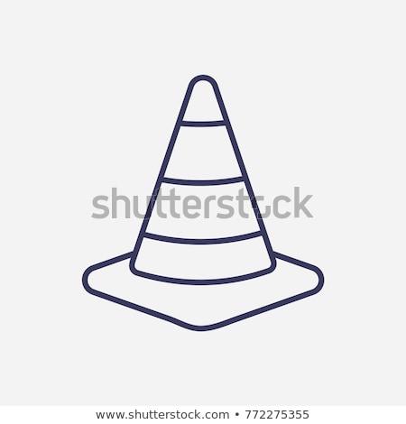 Yol koni ikon vektör örnek Stok fotoğraf © pikepicture