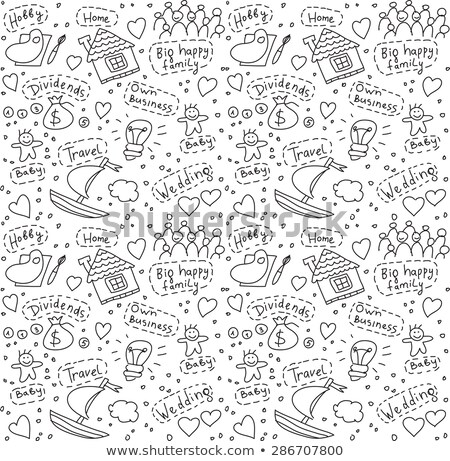 Goal Target Purpose Seamless Pattern Vector Stock photo © pikepicture