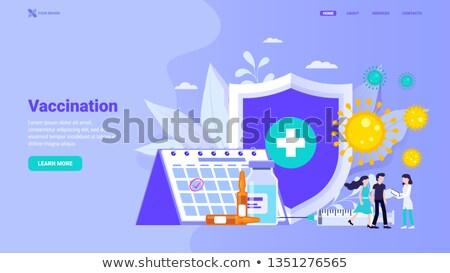 Vaccinatie volwassenen landing pagina vrouw griep Stockfoto © RAStudio