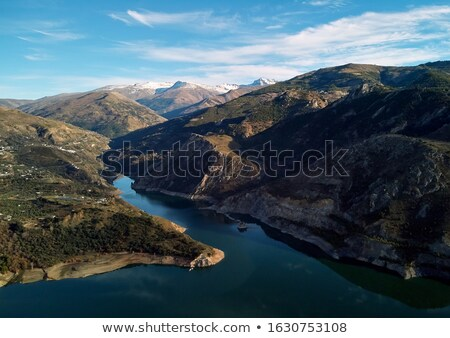 Aerial photography rocky snow-capped Sierra Nevada mountains Emb Stock photo © amok