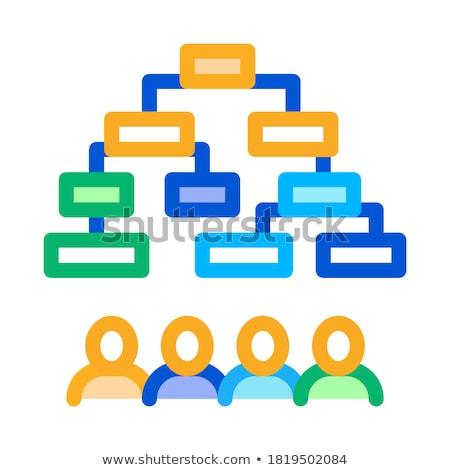 алгоритм икона вектора иллюстрация знак Сток-фото © pikepicture
